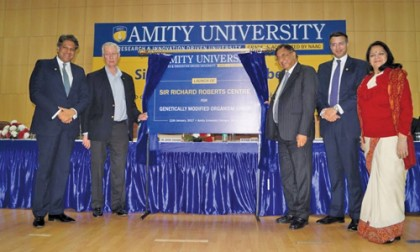 """Genetically Modified Organisms (GMOs) are safe"", avers Nobel Laureate Sir Richard John Roberts during his visit to Amity"