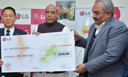 A goodwill gesture: LG Electronics donates Rs 1 crore to CRPF welfare fund