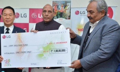 LG Electronics India Donates Rs 1 Crore to CRPF Welfare Fund