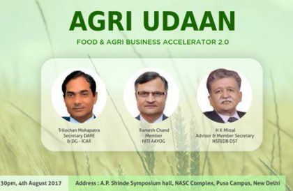 2nd Agri UDAAN, food & agribusiness accelerator program to be launched in Delhi today