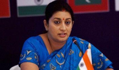 Smriti Irani critices Sonia Gandhi's speech in Lok Sabha