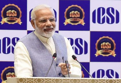 Prime Minister Narendra Modi says the government has worked to strengthen institutional probity in the country