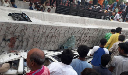Varanasi fly-over collapse, several people killed