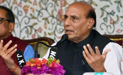 Home Minister Rajnath Singh calls upon youth in J&K to choose development over destruction