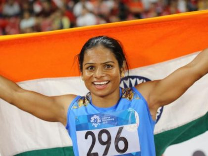 Exceptional achievement of an exceptional athlete! Congratulations Dutee Chand for winning a hard earned and well deserved Gold in the Women's 100 m finals: PM Narendra Modi